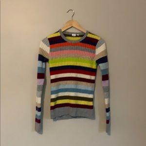 GAP Multicolor Striped Sweater